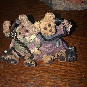 Alexandria and Belle Telephone Tied Boyd Bears